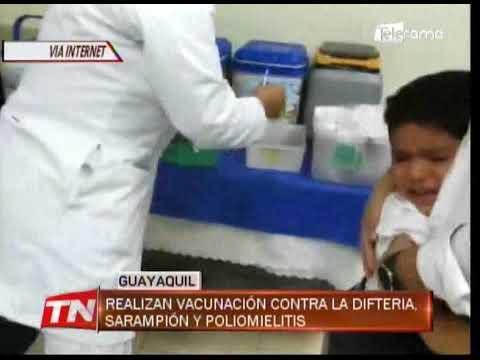 Realizan vacunación contra la Difteria, Sarampión y Poliomielitis