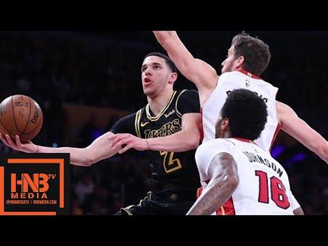 Los Angeles Lakers vs Miami Heat Full Game Highlights / March 16 / 2017-18 NBA Season (видео)