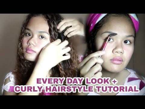 Curly hairstyles - EVERYDAY LOOK + Curly Hairstyle Tutorial  Manikang Kulot
