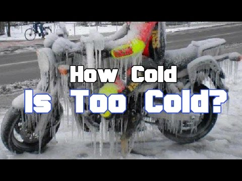 How cold is too cold for riding your motorcycle?