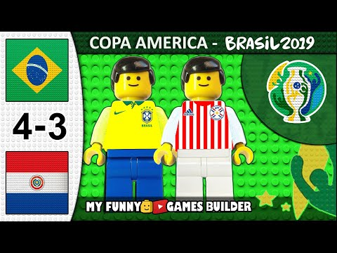 Brazil vs Paraguay 4-3 • Copa America 2019 • Penalty Shootout - Goals & Highlights in Lego Football