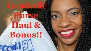 Goodwill Purse Haul & Bonus