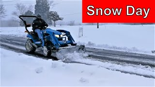 3. LS MT125 Tractor Snow Plowing Days!
