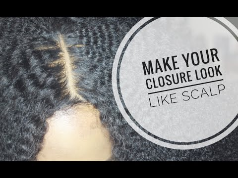 Make Your Closure Look Like Scalp!! | Hide The Grids In Your Lace Closure