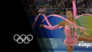 Kanaeva's Rhythmic Gymnastics Double Gold | 90 Seconds of the Olympics