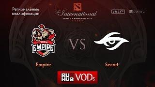 Escape vs Secret, game 1