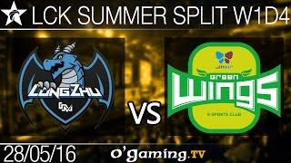 Longzhu Gaming vs Jin Air Green Wings - LCK Summer Split 2016 - W1D4