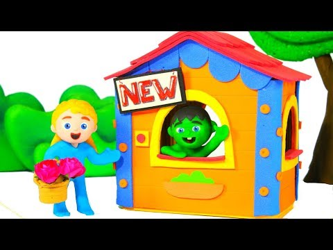 SUPERHERO BABY NEW HOUSE ❤ SUPERHERO PLAY DOH CARTOONS FOR KIDS