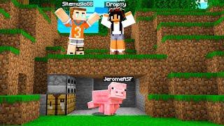 Minecraft Speedrunner VS 4 Hunters (Morph Mod)