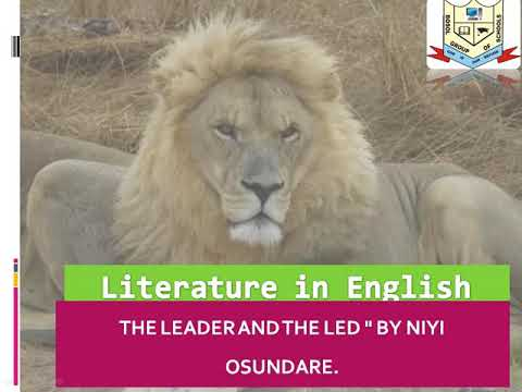 THE LEADER AND THE LED by NIYI OSONDARE - Literature in English Poem