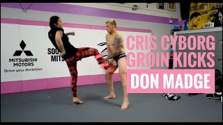 Video Cris Cyborg kicks UFC Star Don Madge in the groin to test the diamond cup MP3, 3GP, MP4, WEBM, AVI, FLV Desember 2018