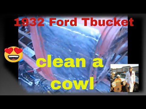 32 ford repair of rusty body panel on t bucket