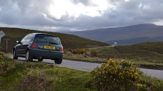 Driving Scotland. Car drive from Durness to Ullapool (Sutherland to