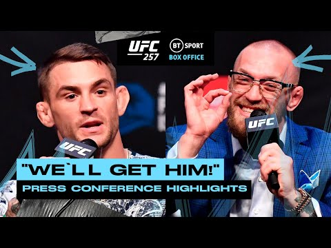 """Poirier vs McGregor UFC257 press conference highlights 