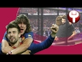 El punto ganador del partido entre Puyol y Piqué - Vídeos de Piqué del F.C. Barcelona