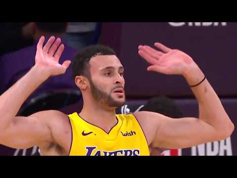 Lakers' Larry Nance Jr. Raises the Roof Following Monster Alley-Oop