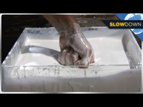 motion - Is it a liquid? Is it a solid? Is it both? Watch what happens when force is applied to amazing and mind bending Non-Newtonian Liquid and filmed in slow motio...