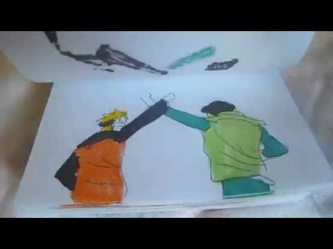 naruto shippuden flipbook animation part 2 Rock lee Naruto Taijutsu