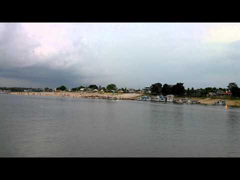 Saindo da ilha de Nhamundá-AM
