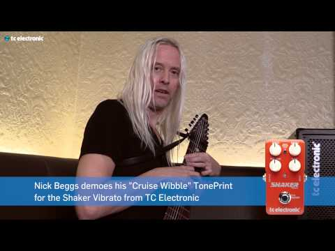 "Nick Beggs demos his ""Cruise Wibble"" TonePrint for the Shaker Vibrato pedal"