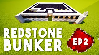 Let's Build: REDSTONE BUNKER EP2 - Hidden Input, Defense System (A Redstone Tutorial Series)