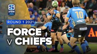 Western Force v Chiefs Rd.1 2021 Super rugby Trans Tasman video highlights
