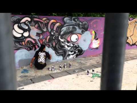 Tuyuloveme, Mutons, Pedmons graffiti jam at somerset skatepark