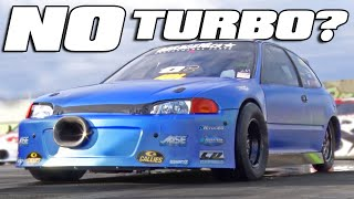 600hp ALL MOTOR Civic runs 8's!! by 1320Video