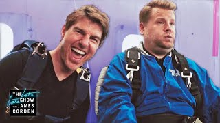Video Tom Cruise Forces James Corden to Skydive MP3, 3GP, MP4, WEBM, AVI, FLV Januari 2019