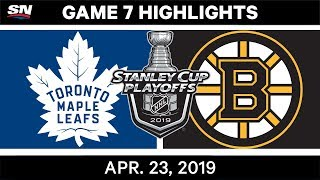 NHL Highlights | Maple Leafs vs. Bruins, Game 7 - April 23, 2019 by Sportsnet Canada