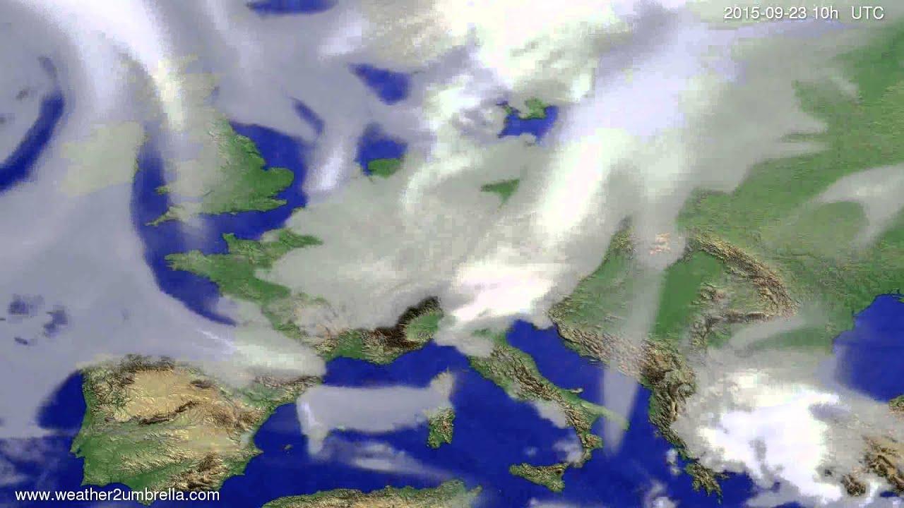 Cloud forecast Europe 2015-09-20