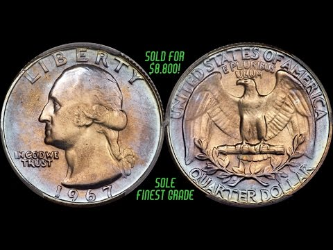 RARE TONED 1967 Washington Quarter Shatters Record With $8,800 Sale - HIGHEST GRADE!