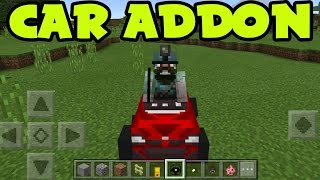 MCPE 0.16.0 BEST WORKING CAR ADDON and BEHAVIOR PACK! // CAR ADDONS Minecraft Pocket Edition ADDON