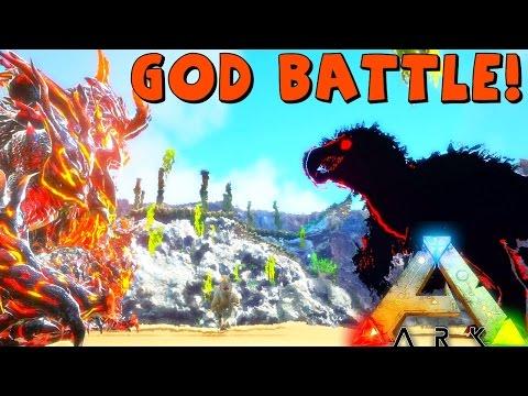 ARK Survival Evolved   GENESIS GOD OBLIVION VS LEVEL 30M DRAGON GOD & INDOMINUS ( Modded Gameplay )