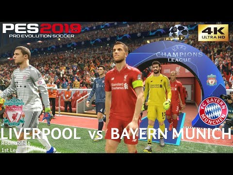PES 2019 (PC) Liverpool Vs Bayern Munich | UEFA CHAMPIONS LEAGUE ROUND OF 16 | 19/2/2019 | 4K 60FPS