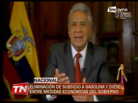 Eliminación de subsidio a gasolina y diésel entre medidas económicas del gobierno
