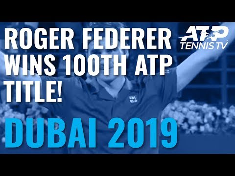 Roger Federer Wins 100th Career Title in Dubai! - Thời lượng: 52 giây.