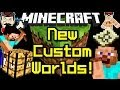 Minecraft News CUSTOM WORLDS & Creeper Dress!