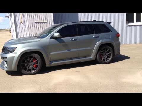 tyrannos jeep grand cherokee srt8 emerges in russia video. Black Bedroom Furniture Sets. Home Design Ideas