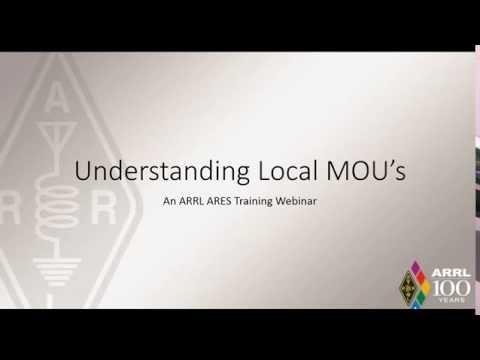 ARRL Webinar: Understanding MOUs (видео)