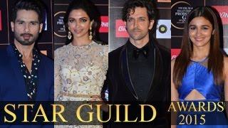 Star Guild Awards 2015   Celebrities List   Deepika Padukone,Ranveer Singh,Hrithik Roshan
