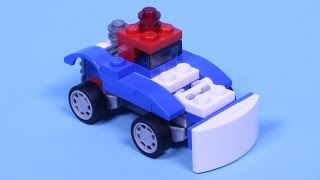 "Lego Snowplow Animated Building Instructions (Lego Creator 31027 Stop Motion ""How To"")"