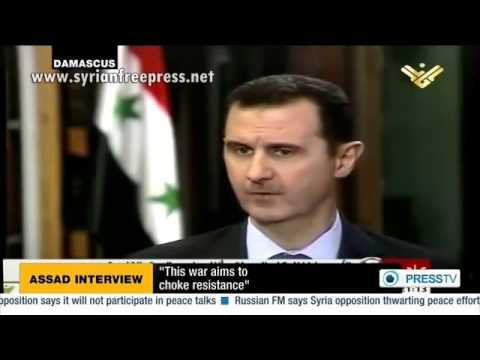 syrian president - President Assad: This is exactly my point. Everything that is happening at the moment is aimed, first and foremost, at stifling the resistance. Israel's supp...