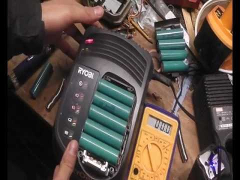 how to rebuild ryobi battery pack