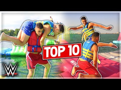 Top 10 WWE Moves At The Water Park (видео)