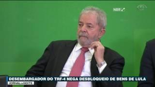 O Tribunal Federal da quarta região negou o pedido da defesa de Lula para liberar contas e bens bloqueados pela Lava Jato.