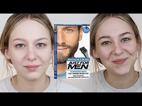 DIY BROW TINT using MENS' BEARD DYE