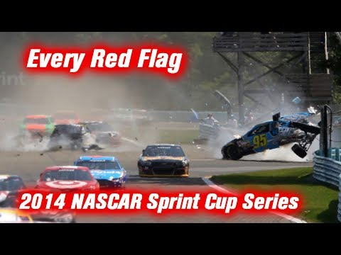 Every Red Flag: 2014 NASCAR Sprint Cup Series