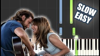 Lady Gaga, Bradley Cooper - Shallow (A Star Is Born) | SLOW EASY PIANO TUTORIAL by Betacustic