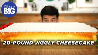 Video I Made A Giant 20-Pound Jiggly Cheesecake • Tasty MP3, 3GP, MP4, WEBM, AVI, FLV Juni 2019
